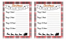 006 Excellent Printable Wish List Template Example  Cute Christma Free Holiday