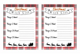 006 Excellent Printable Wish List Template Example  Christma Free Pdf