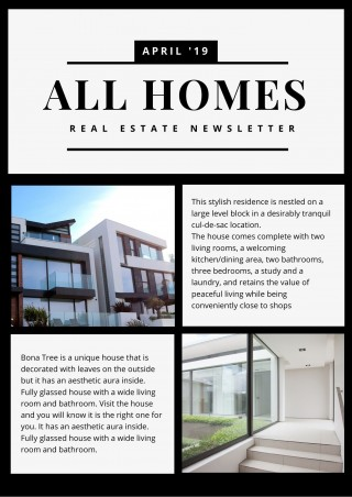006 Excellent Real Estate Newsletter Template Example  Free Mailchimp320