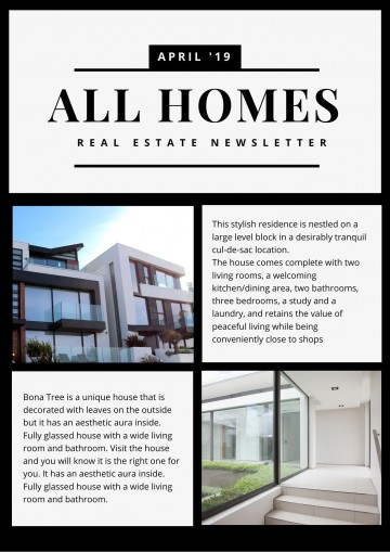 006 Excellent Real Estate Newsletter Template Example  Free Mailchimp360