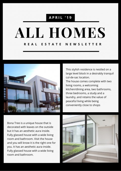 006 Excellent Real Estate Newsletter Template Example  Free Mailchimp480
