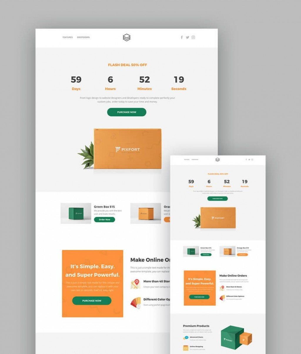 006 Excellent Responsive Landing Page Template Highest Clarity  Free Html With Flexbox Html5Large