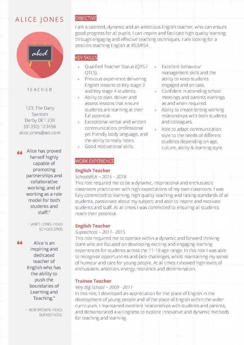006 Excellent Resume Template For Teaching Job Highest Clarity  Sample Cv In India Format Example TeacherFull