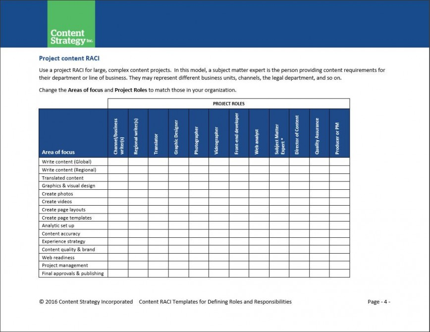 006 Excellent Role And Responsibilitie Template High Resolution  Project Management Word Team Excel868
