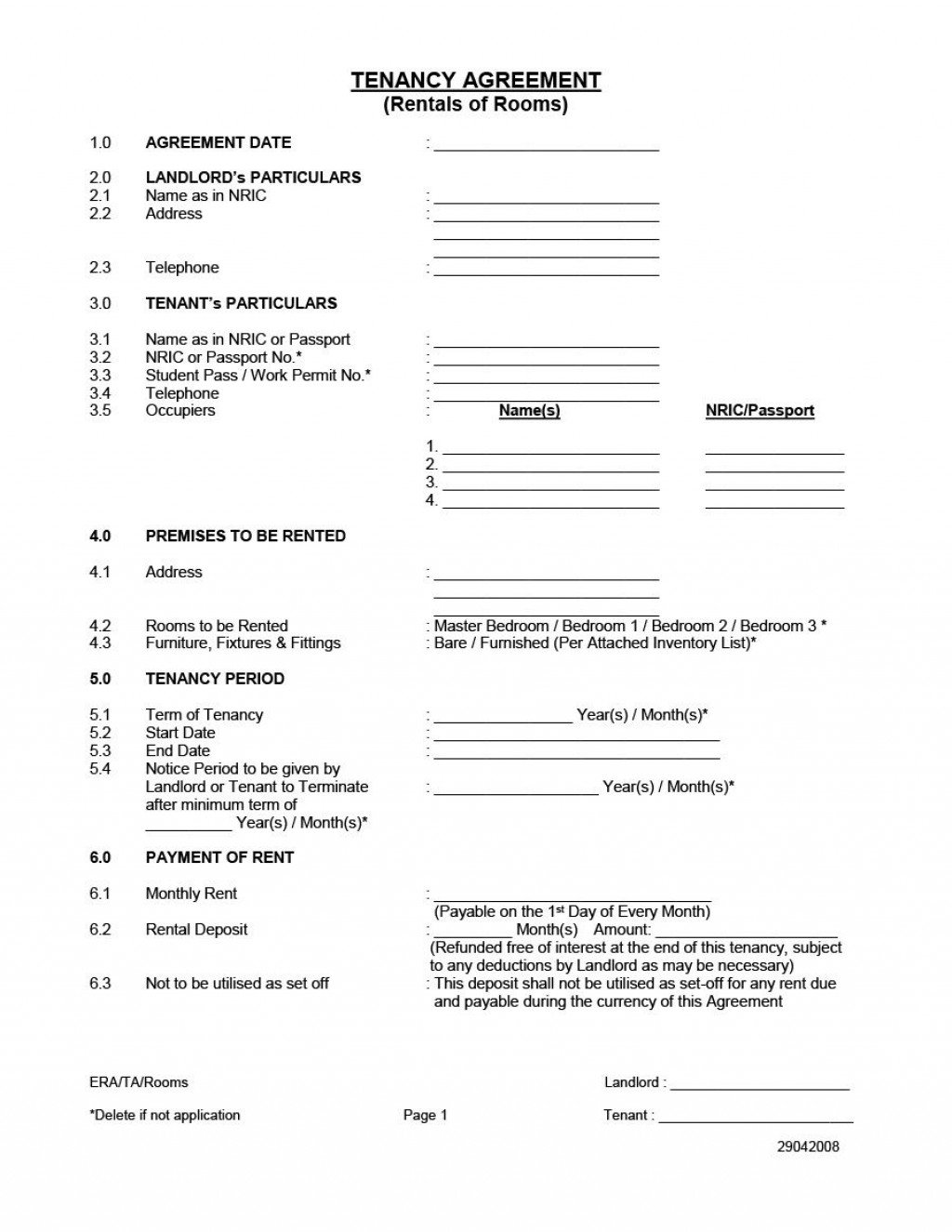 006 Excellent Room Rental Agreement Template Word Doc Malaysia Photo Large