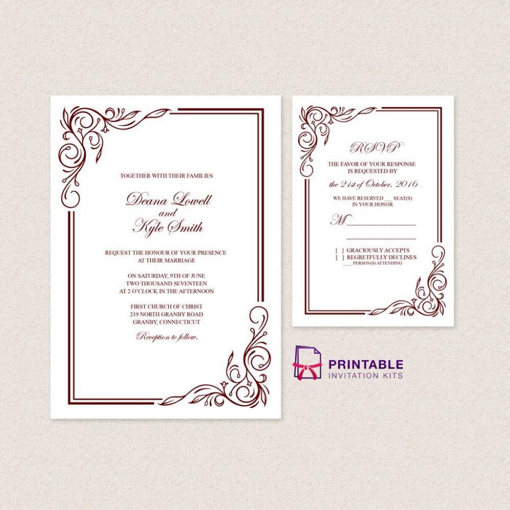 006 Excellent Sample Wedding Invitation Maker Picture Large