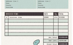 006 Excellent Self Employed Invoice Template Uk Pdf Picture