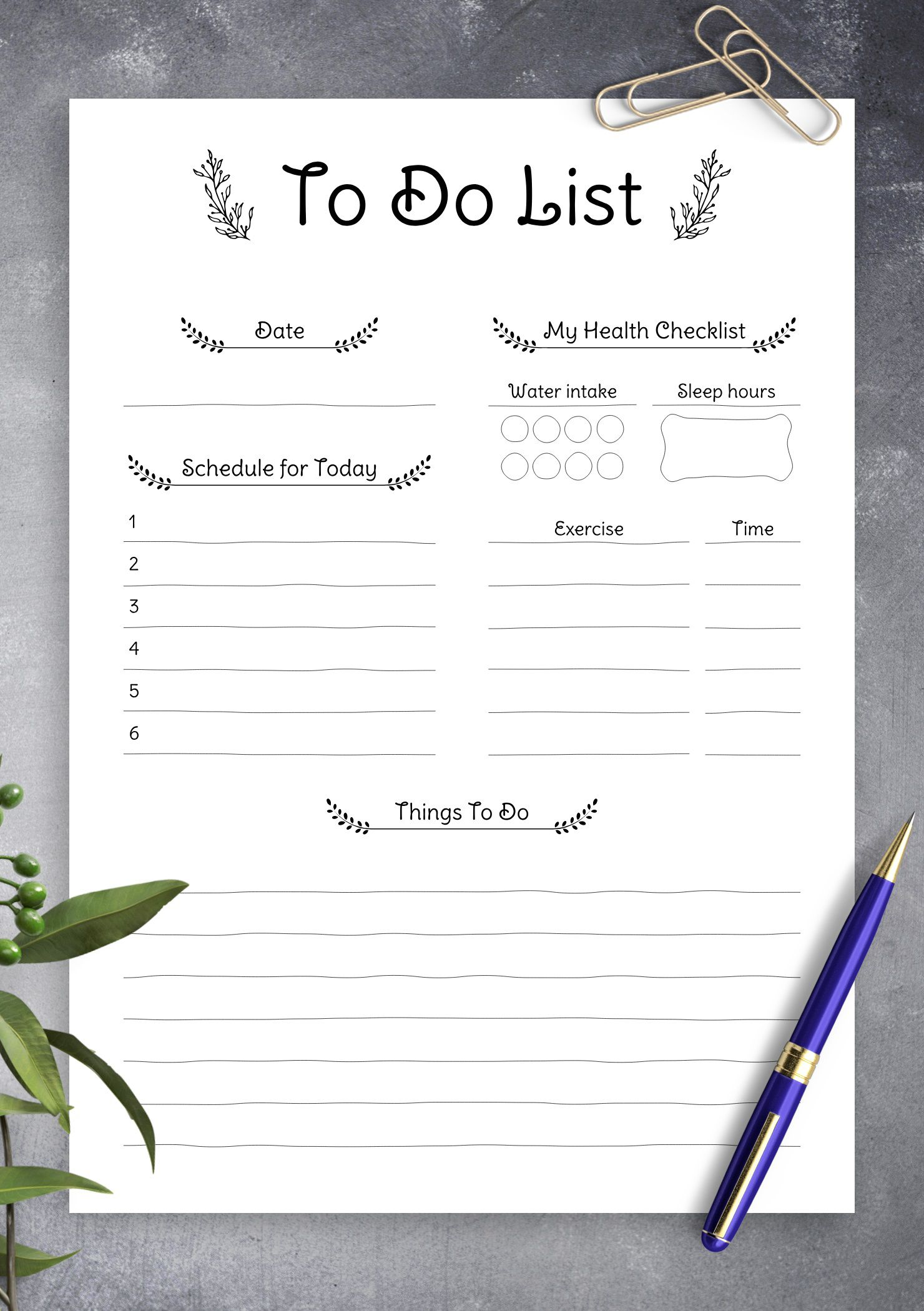 006 Excellent Thing To Do List Template Photo Full