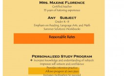 006 Excellent Tutoring Flyer Template Free Image  Word