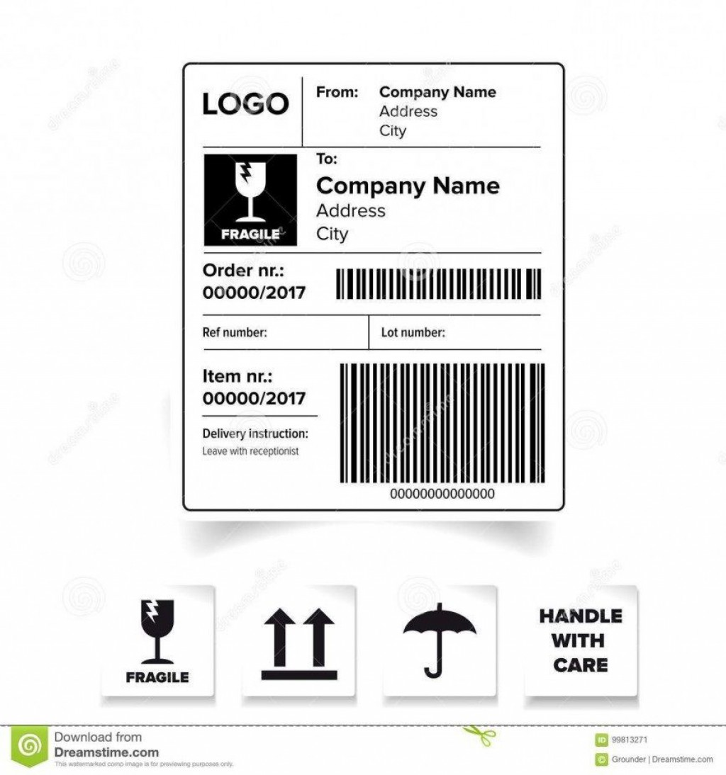 006 Excellent Usp Shipping Label Template Free Photo Large