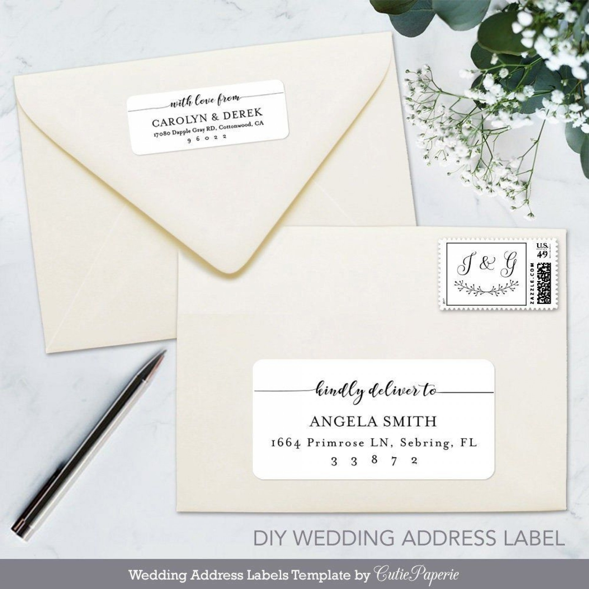 006 Excellent Wedding Addres Label Template Picture  Free Printable1920