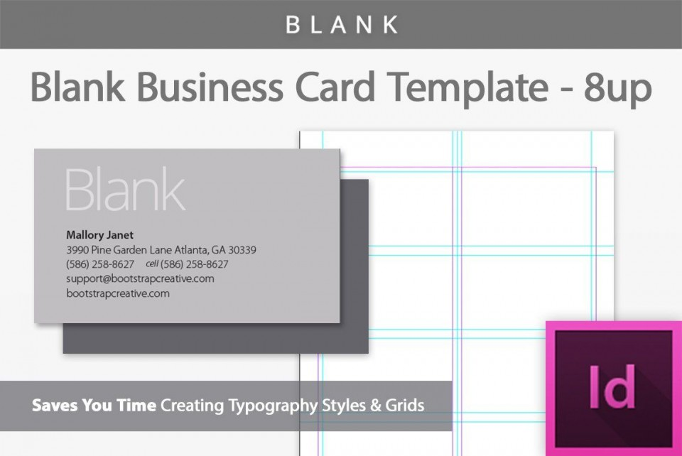 006 Exceptional Blank Busines Card Template Photoshop Photo  Free Download Psd960