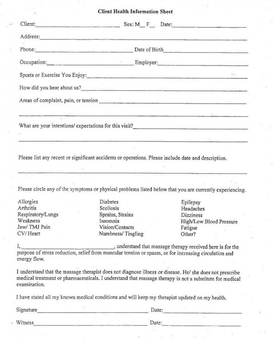 006 Exceptional Client Information Form Template Excel Inspiration 960