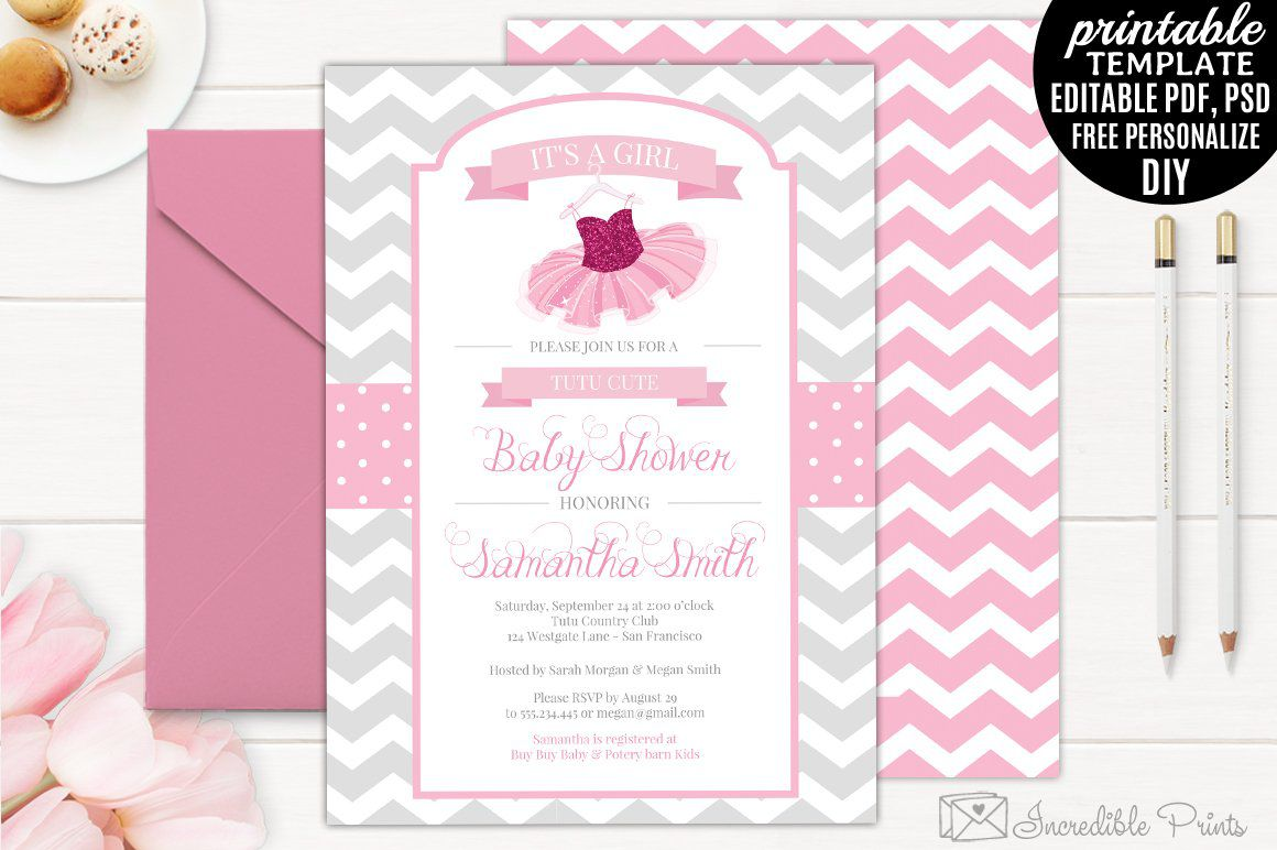 006 Exceptional Diy Baby Shower Invitation Template Idea  Templates DiaperFull