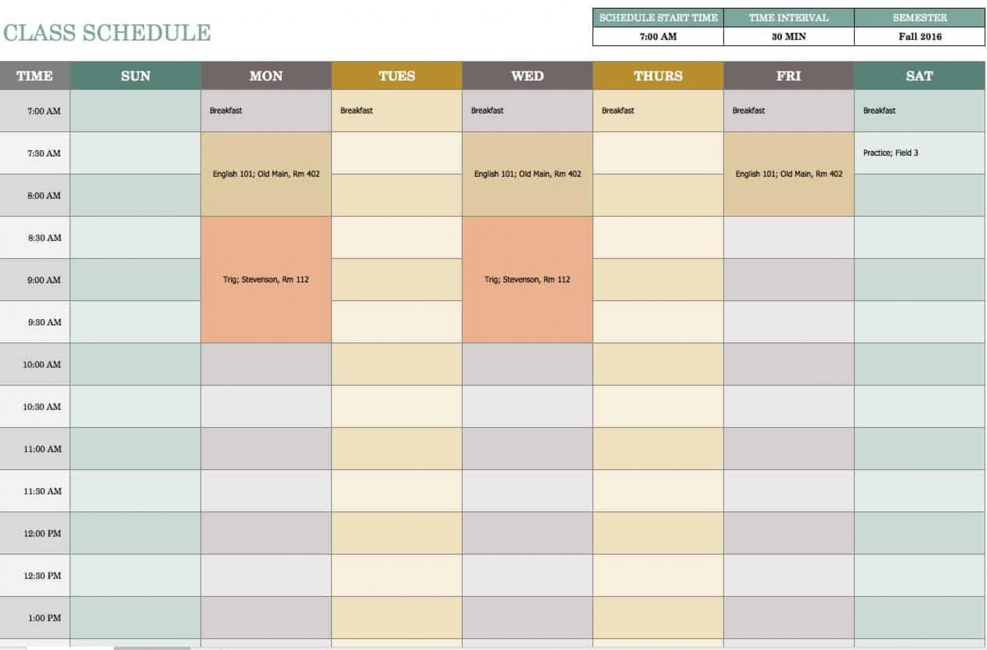 006 Exceptional Excel Weekly Timetable Template Design  Planner 2020 Meal 20191920
