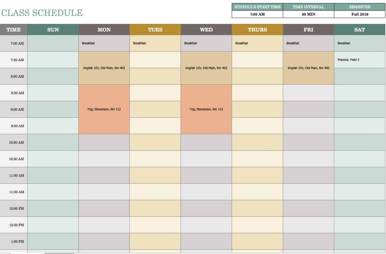 006 Exceptional Excel Weekly Timetable Template Design  Planner 2020 Meal 2019Full
