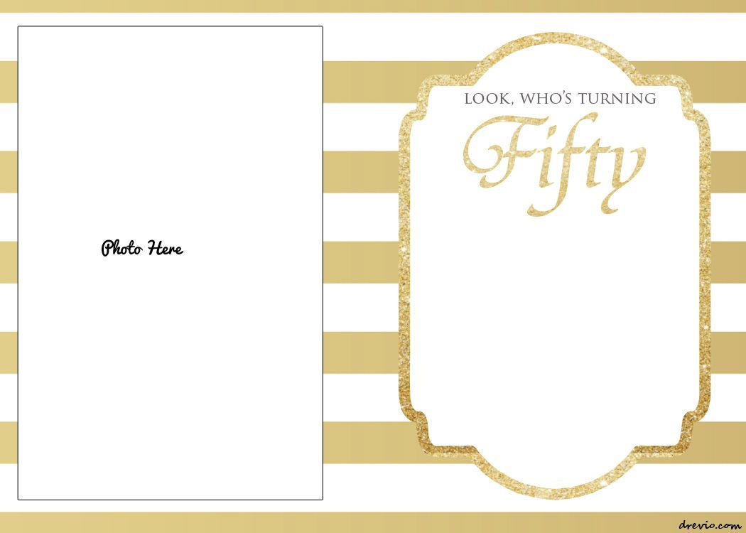 006 Exceptional Free 50th Anniversary Invitation Template For Word High Resolution Full