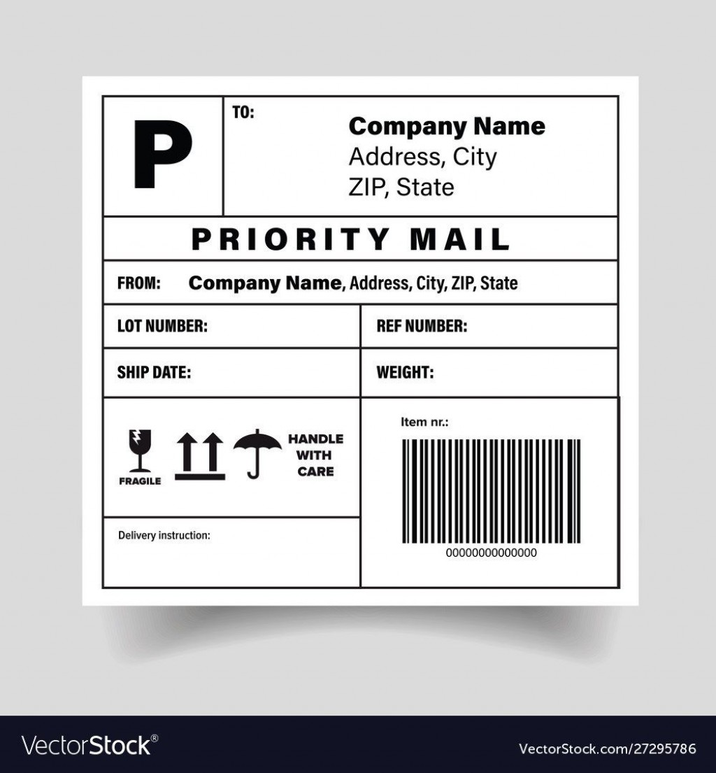 006 Exceptional Free Shipping Label Template High Def  Format Word For MacLarge