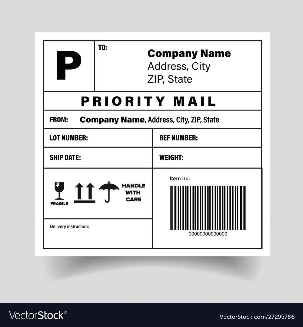 006 Exceptional Free Shipping Label Template High Def  Format Word For MacFull