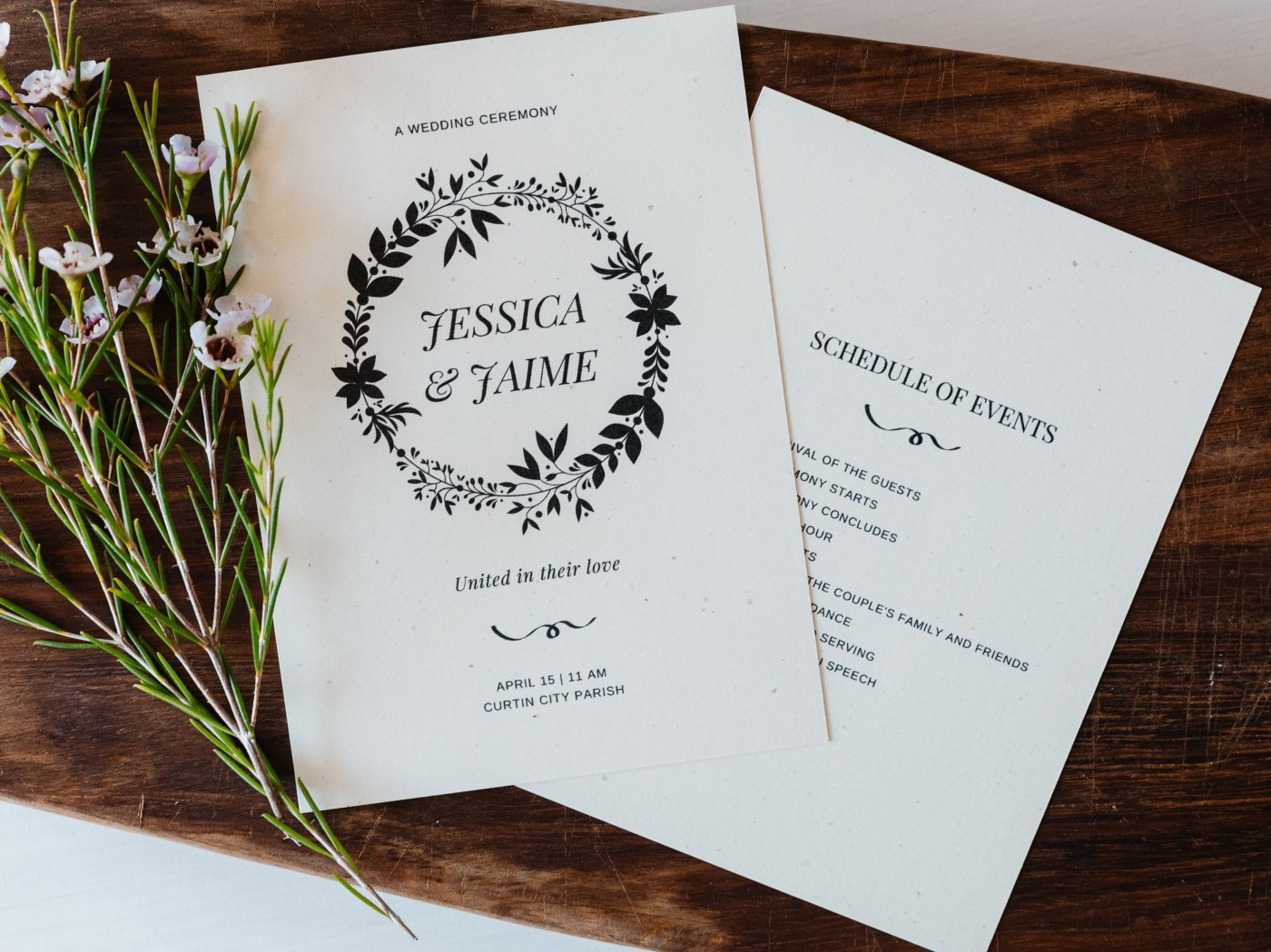 006 Exceptional Free Template For Wedding Ceremony Program Example 1400