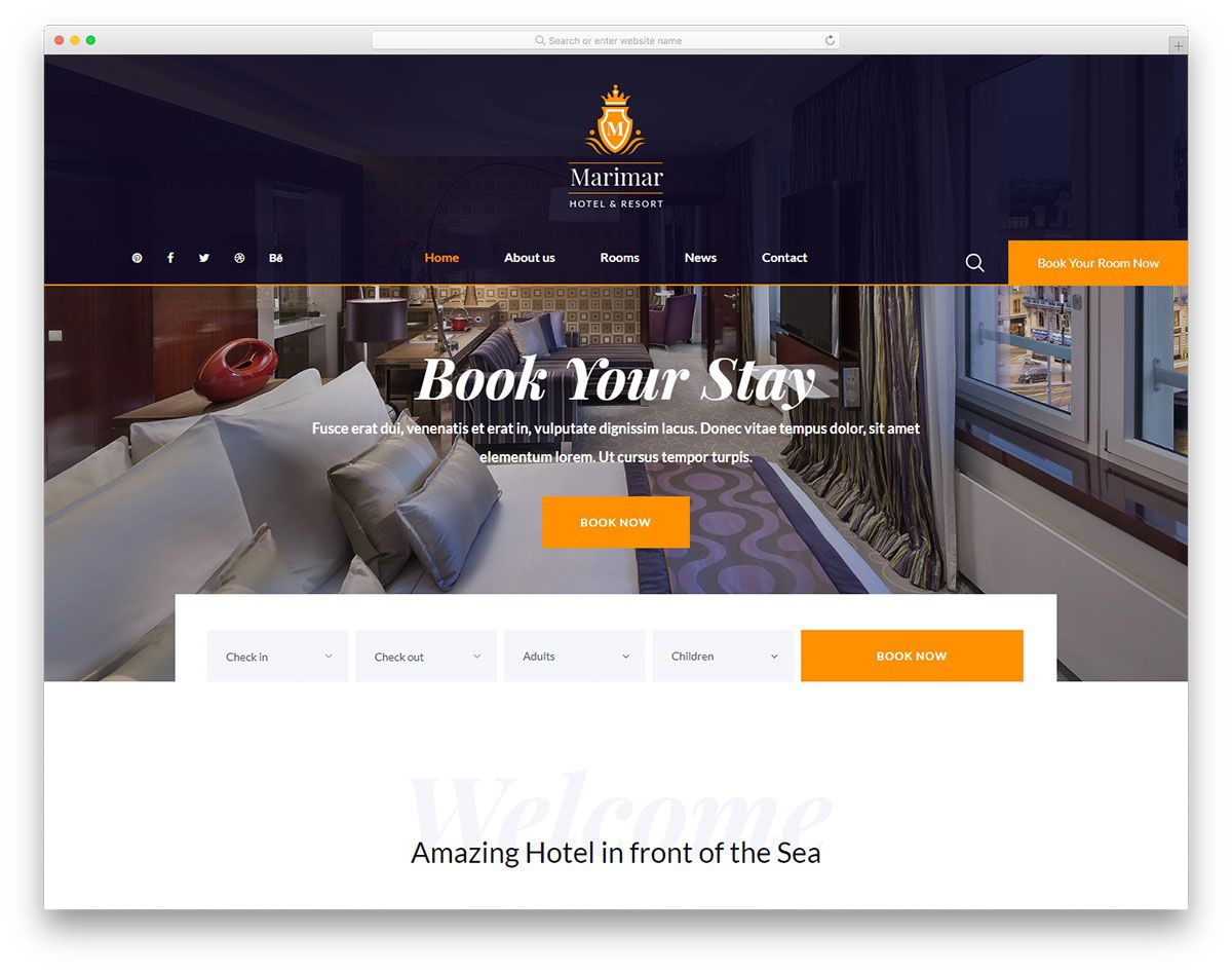 006 Exceptional Hotel Website Template Html Free Download Example  With Cs Responsive Jquery And RestaurantFull