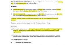 006 Exceptional Master Service Agreement Template Picture  Free Australia