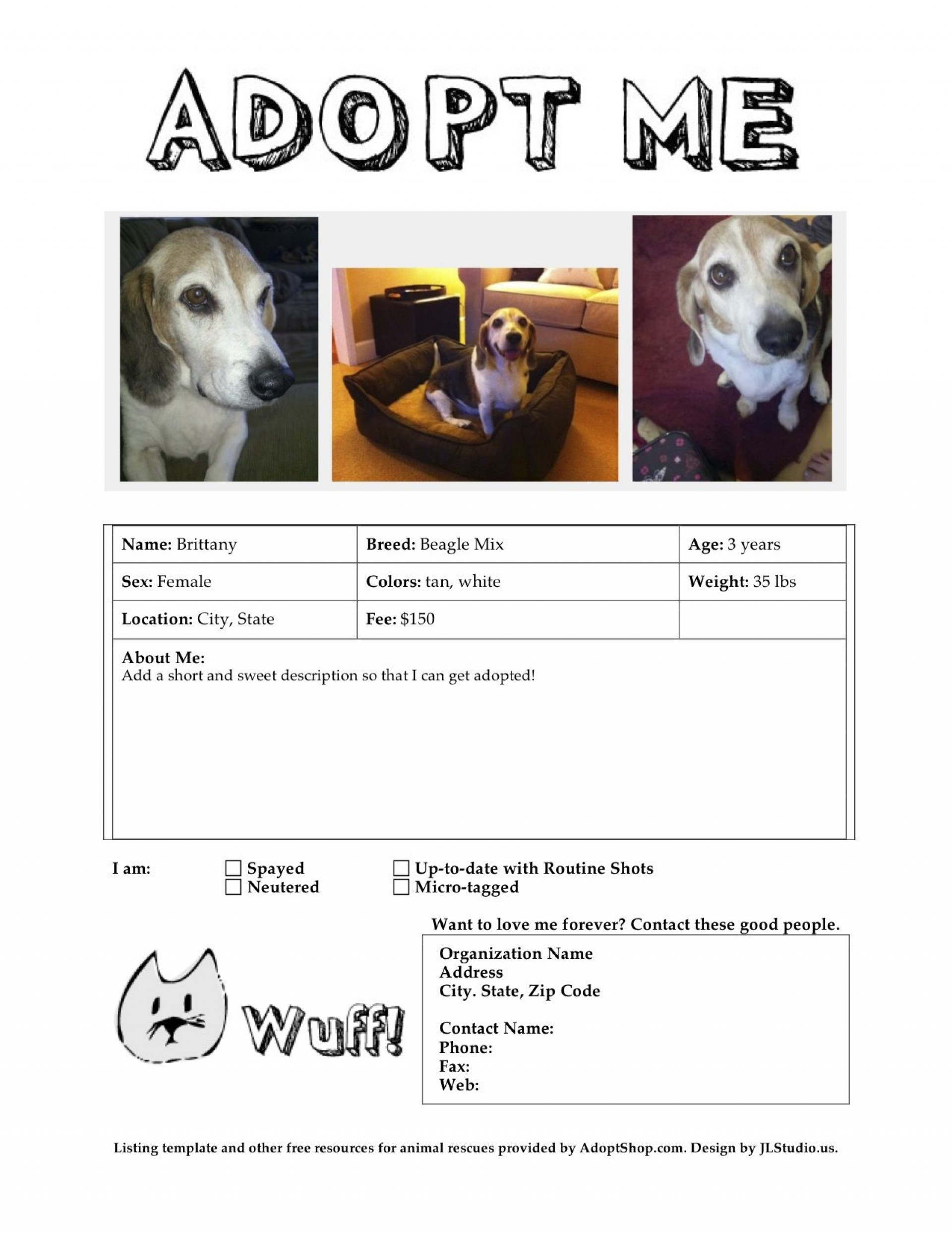 006 Exceptional Pet Adoption Flyer Template Highest Clarity  Free Event Dog1920