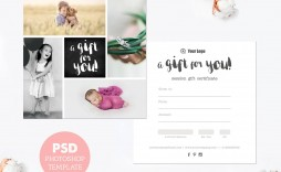 006 Exceptional Photography Session Gift Certificate Template Design  Photo Free Photoshoot