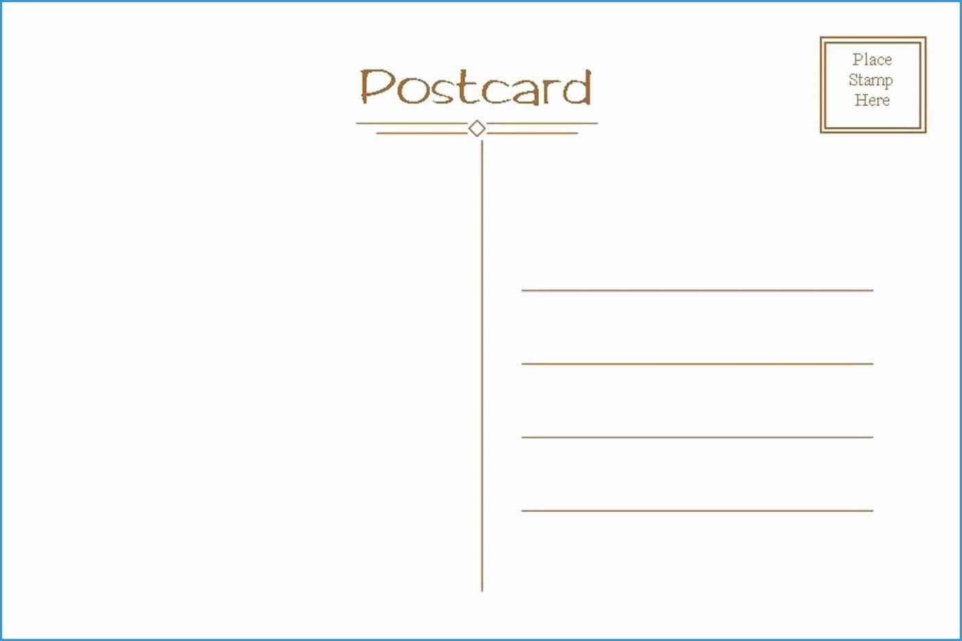 006 Exceptional Postcard Layout For Microsoft Word Highest Quality  Busines Template1400