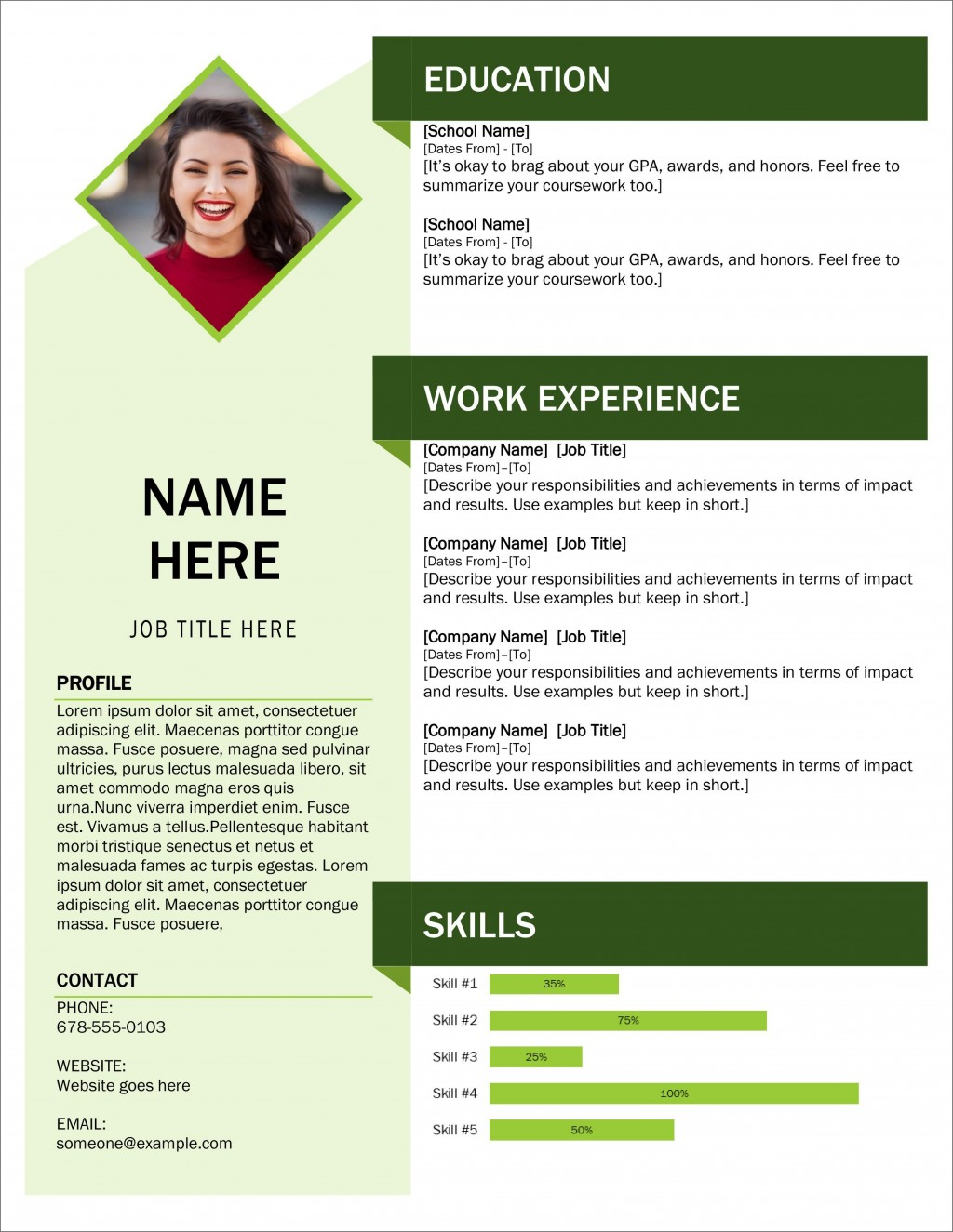 006 Exceptional Professional Cv Template Free 2019 Highest Quality  Resume DownloadLarge