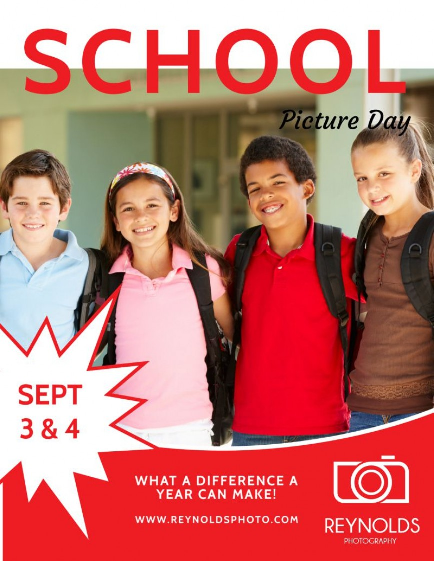 006 Exceptional School Picture Day Flyer Template Concept  Free