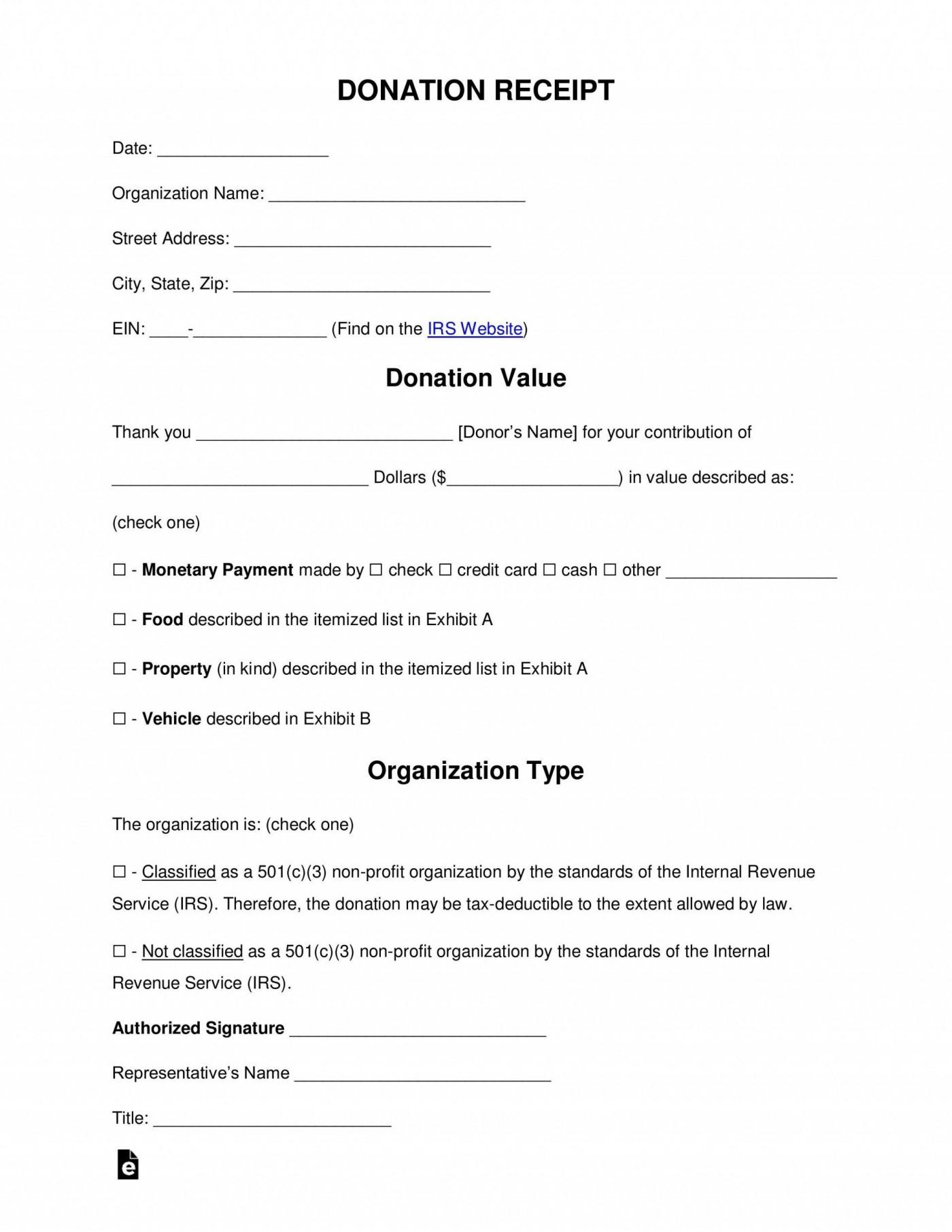 006 Exceptional Tax Deductible Donation Receipt Template Australia Inspiration 1400