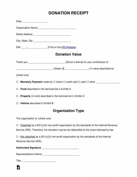 006 Exceptional Tax Deductible Donation Receipt Template Australia Inspiration 480