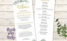 006 Exceptional Wedding Order Of Service Template Word Design  Free Microsoft