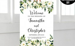 006 Exceptional Wedding Welcome Sign Template Free Inspiration