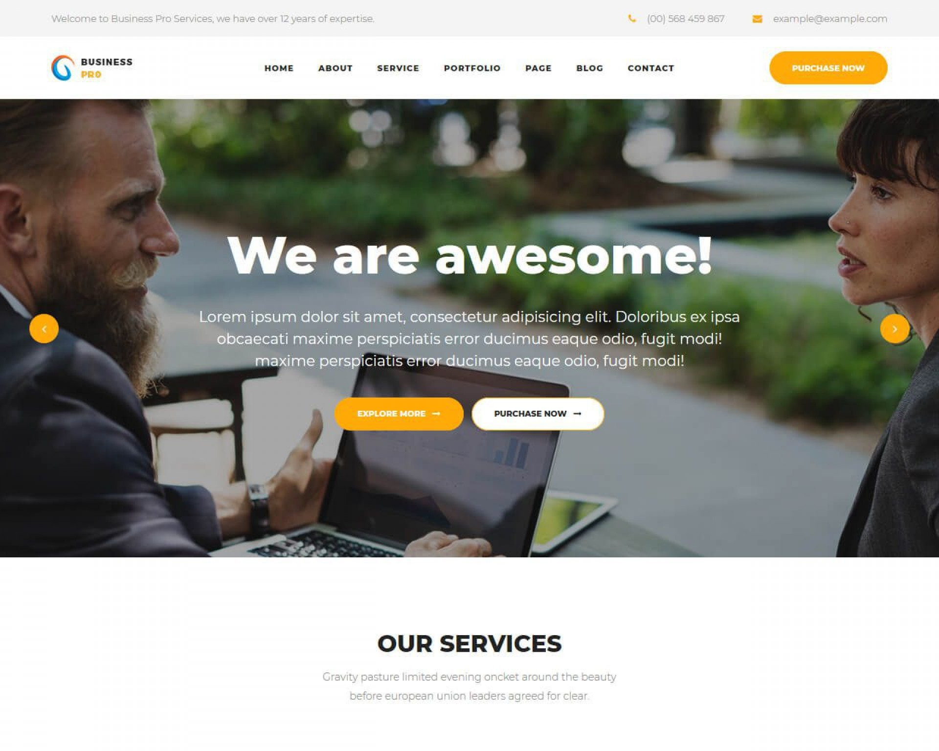 006 Fantastic Busines Html Template Free Download With Cs High Resolution  Css Responsive Website1920
