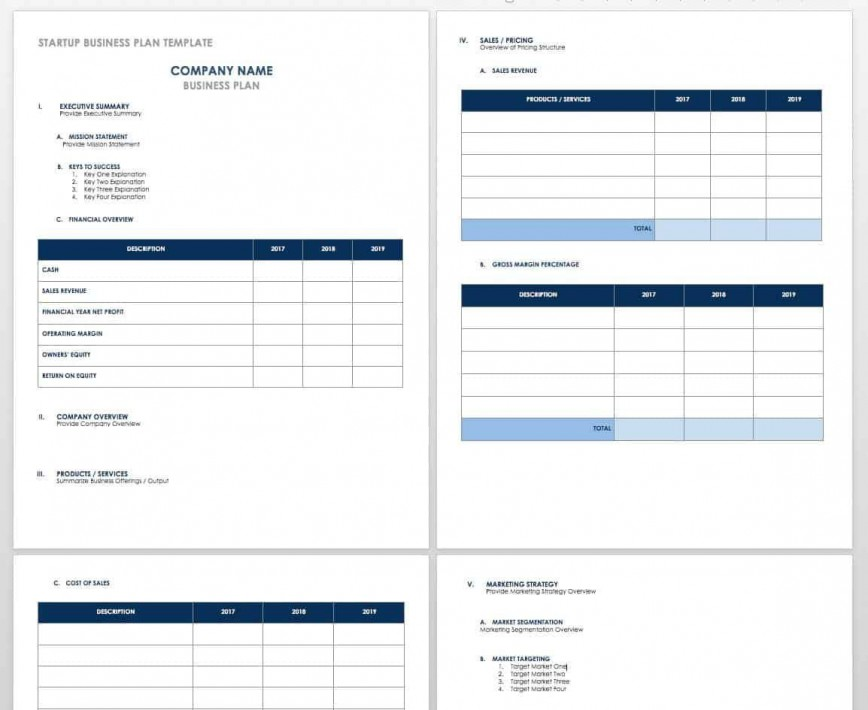 006 Fantastic Busines Plan Template Excel Example  Free Continuity Download