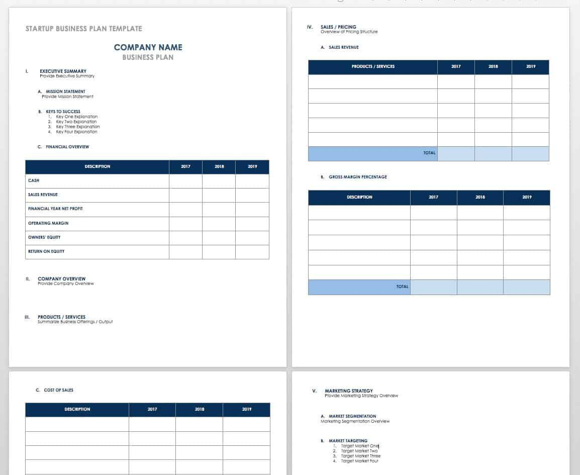 006 Fantastic Busines Plan Template Excel Example  Financial Free ContinuityFull