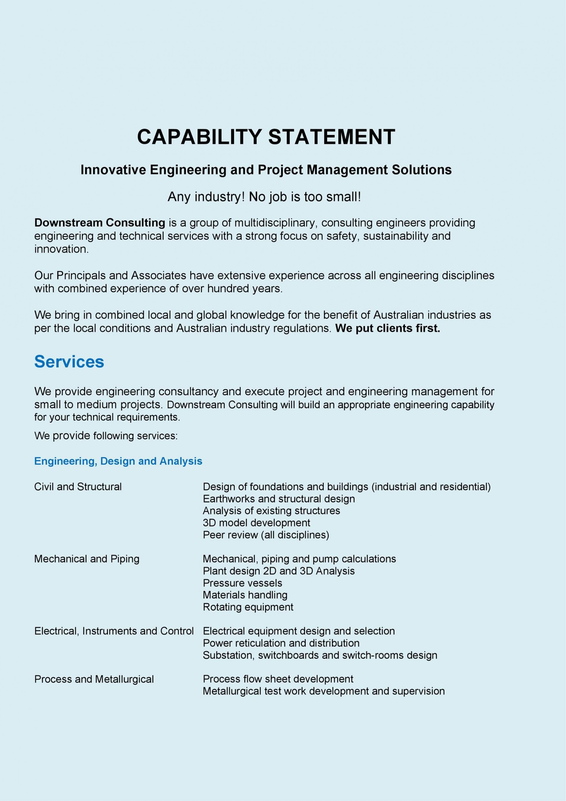 006 Fantastic Capability Statement Template Word Doc Highest Clarity  Document Free1920