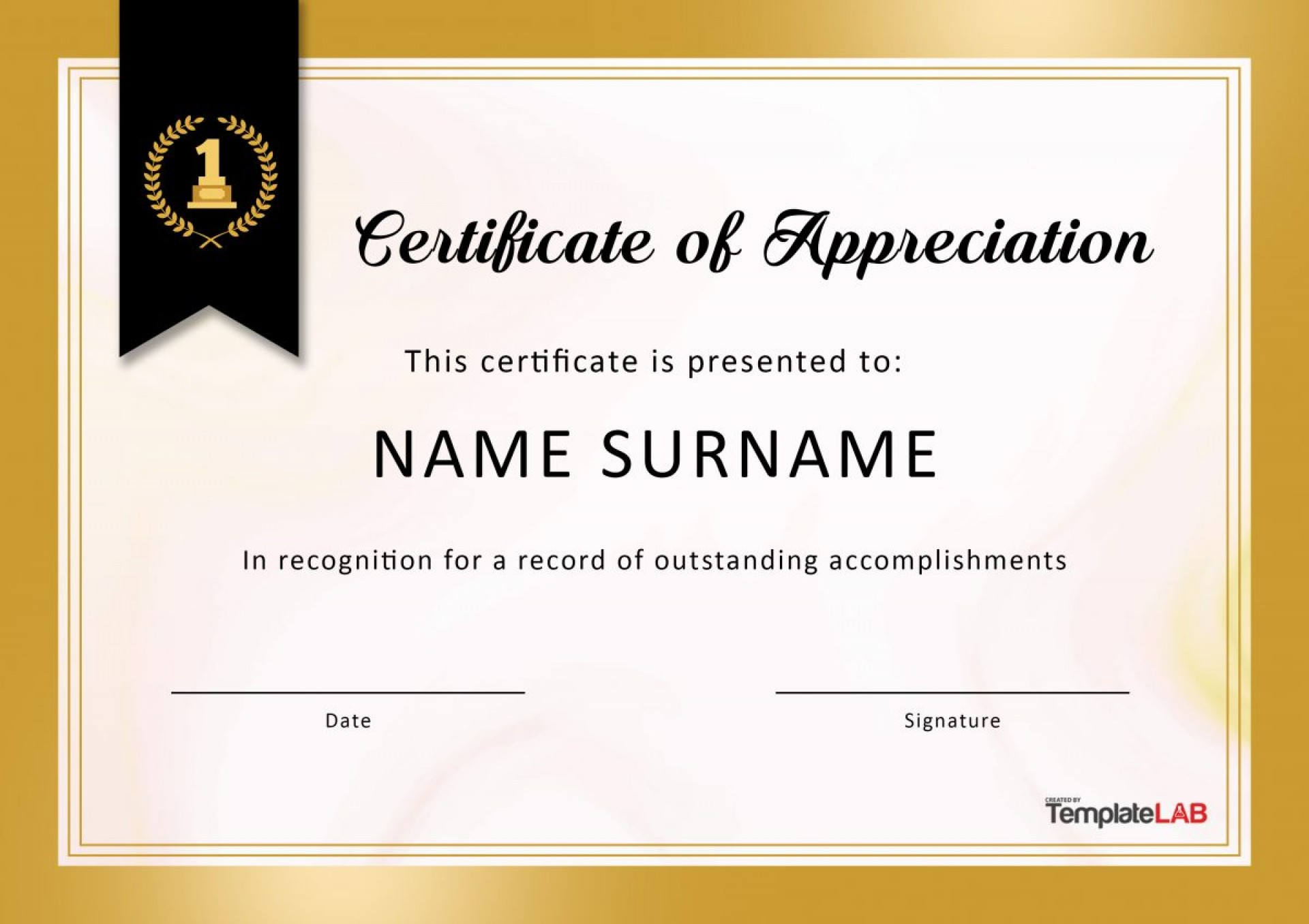 Certificate Of Appreciation Word Template from www.addictionary.org
