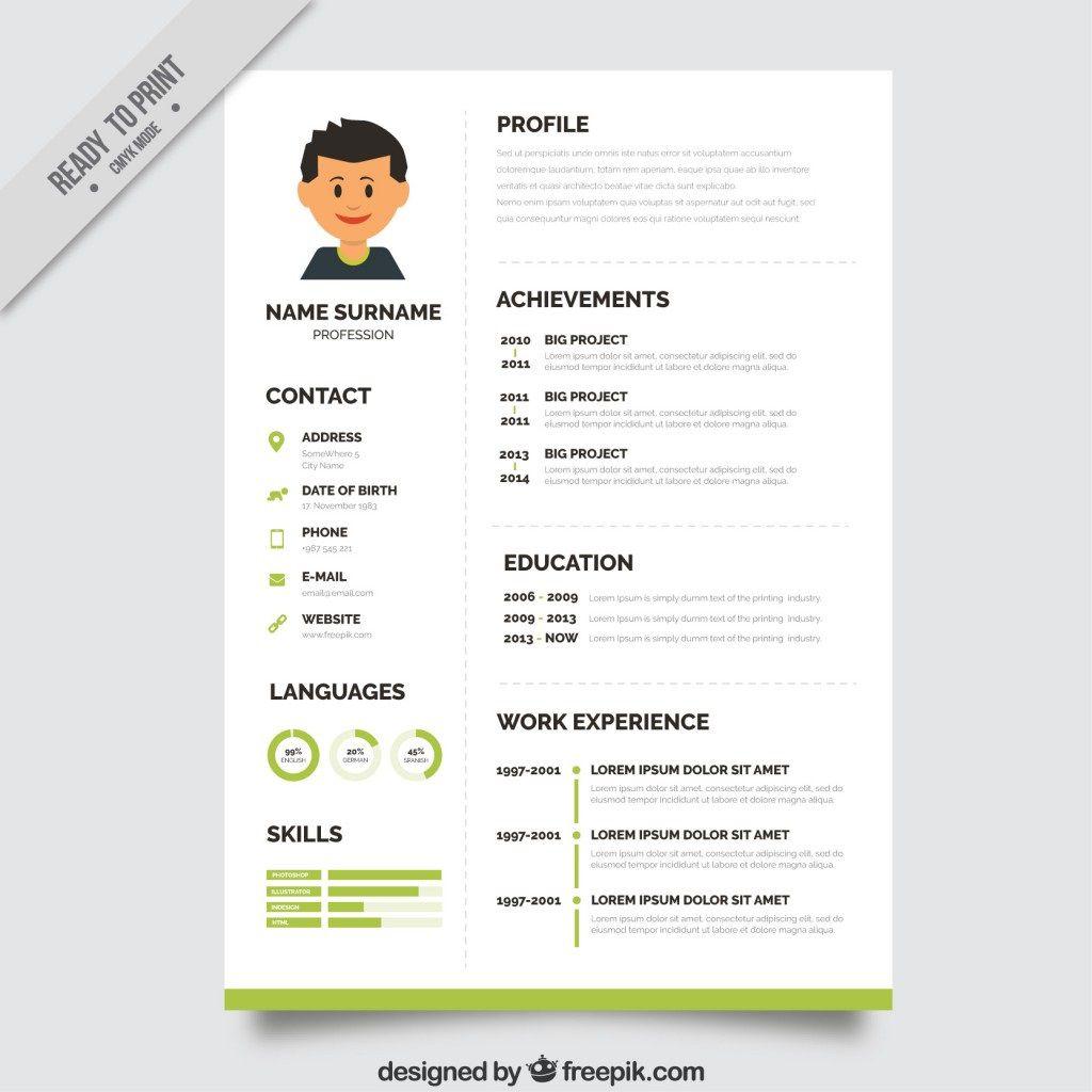 006 Fantastic Creative Resume Template Freepik Image Full