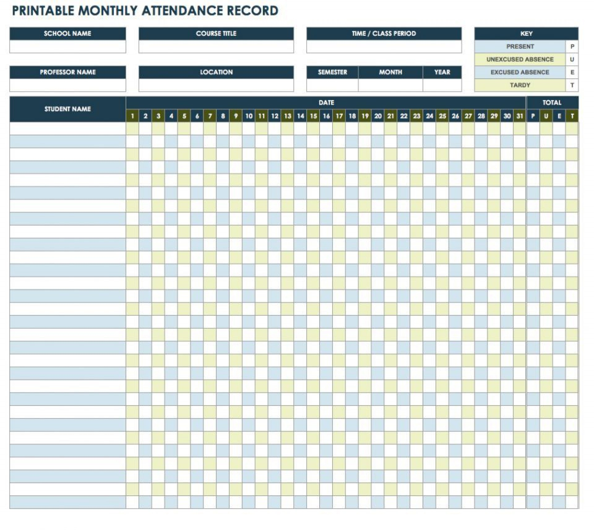006 Fantastic Employee Attendance Record Template Excel Picture  Free Download With Time1920