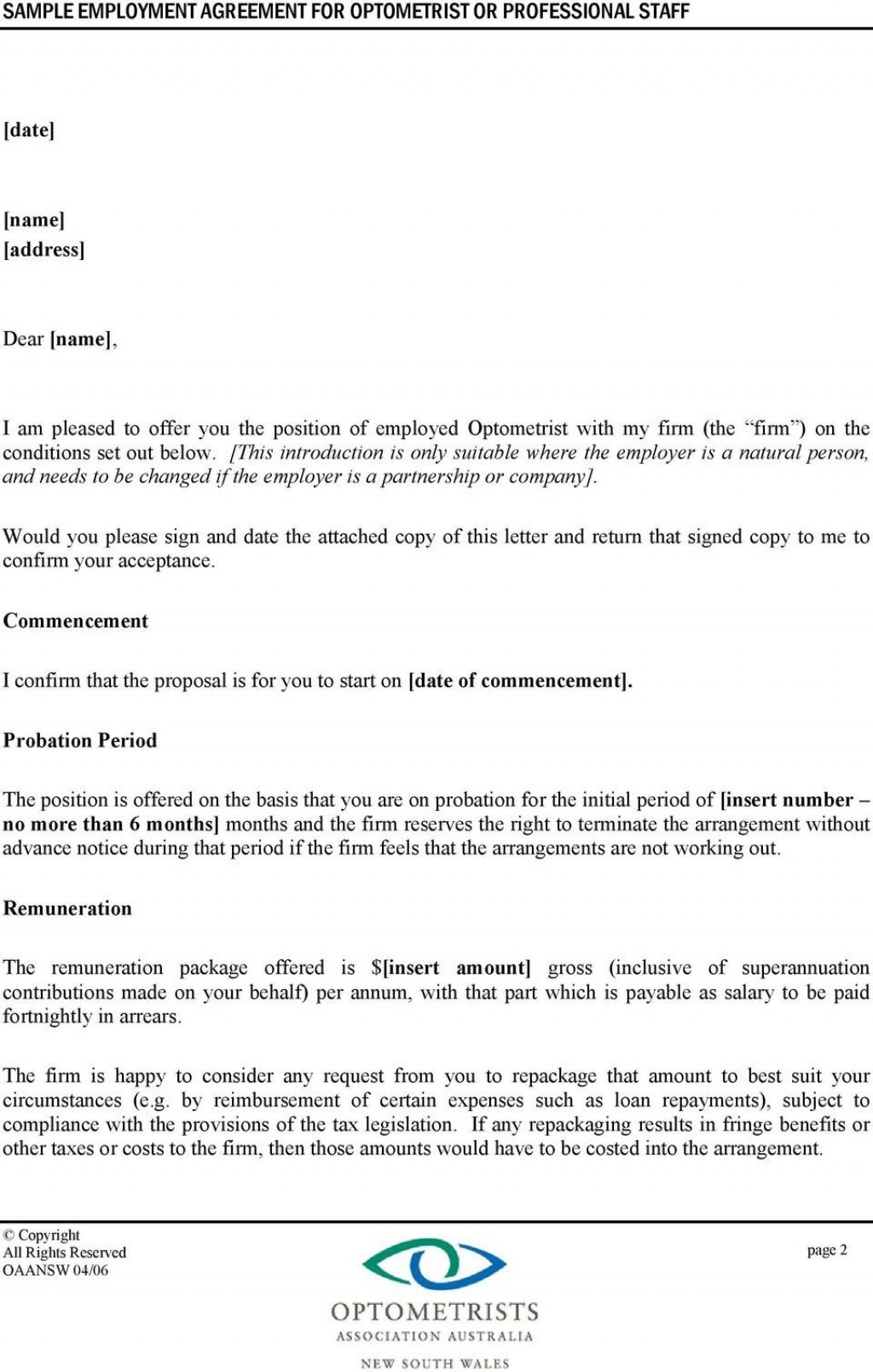 006 Fantastic Free Casual Employment Contract Template Australia Picture Large