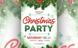 006 Fantastic Free Christma Flyer Template Concept  Templates Holiday Invitation Microsoft Word Psd