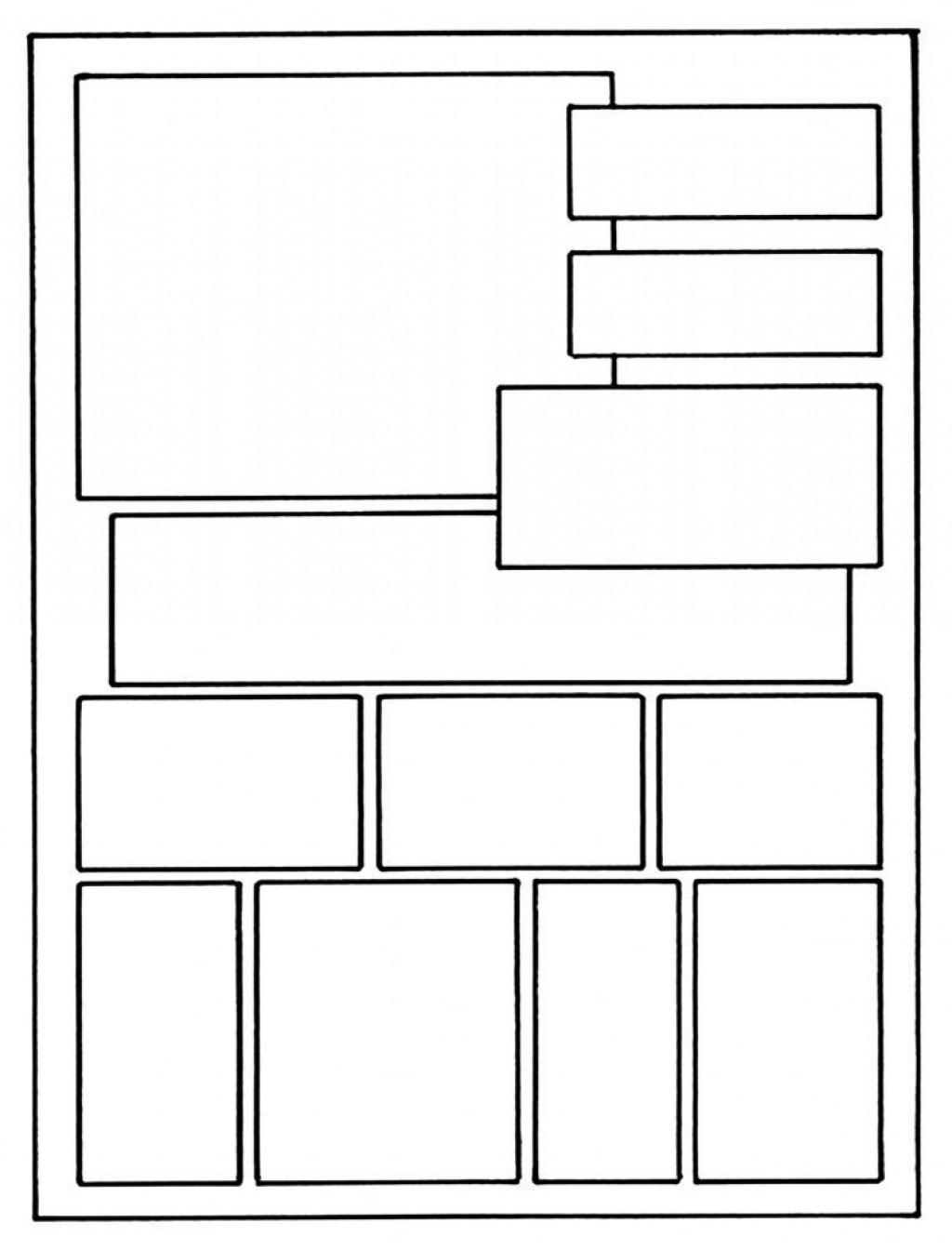006 Fantastic Free Comic Strip Template Word Sample Large
