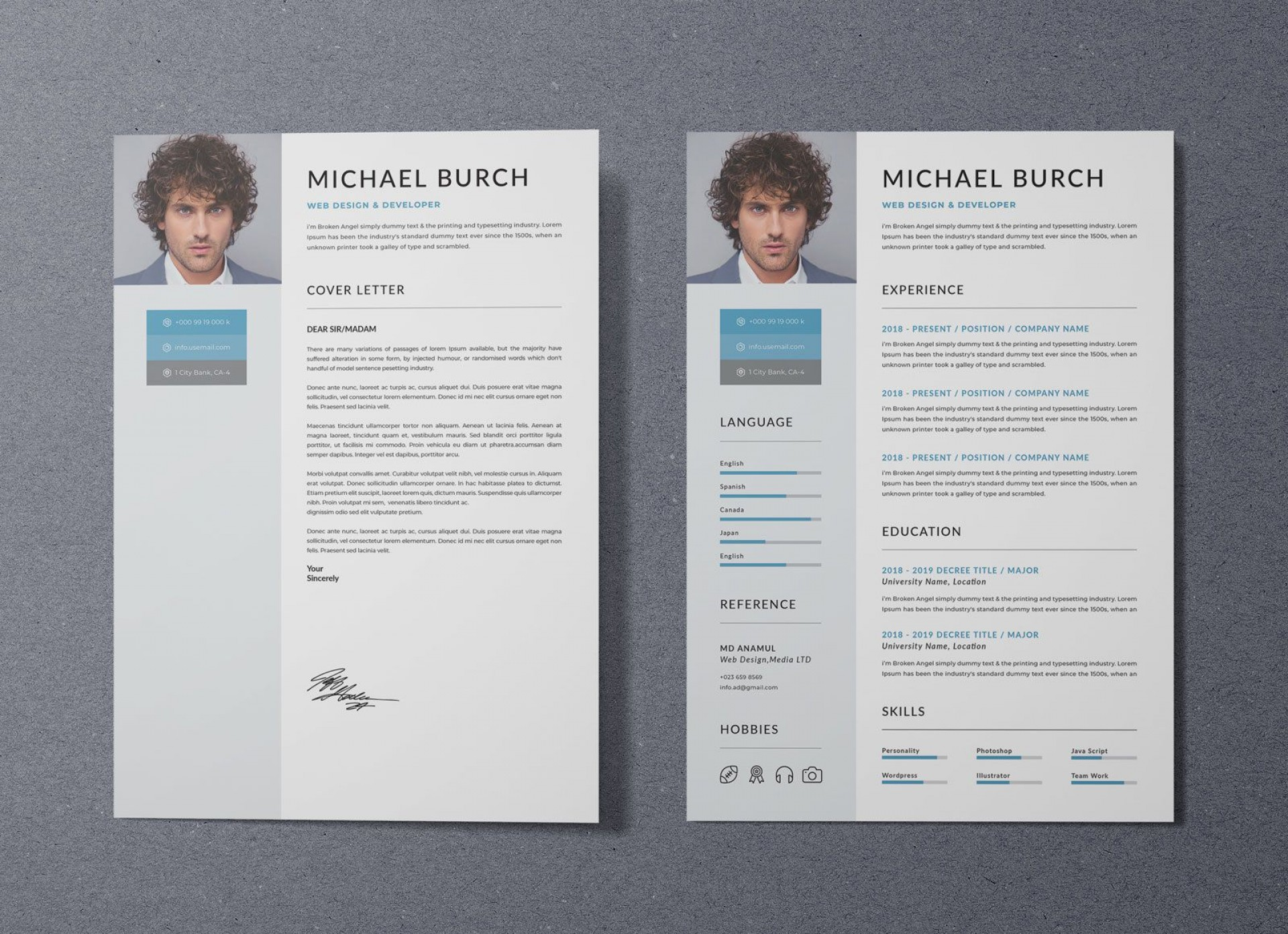 006 Fantastic Free Psd Resume Template Highest Quality  Templates Attractive Download Creative (psd Id) Curriculum Vitae1920