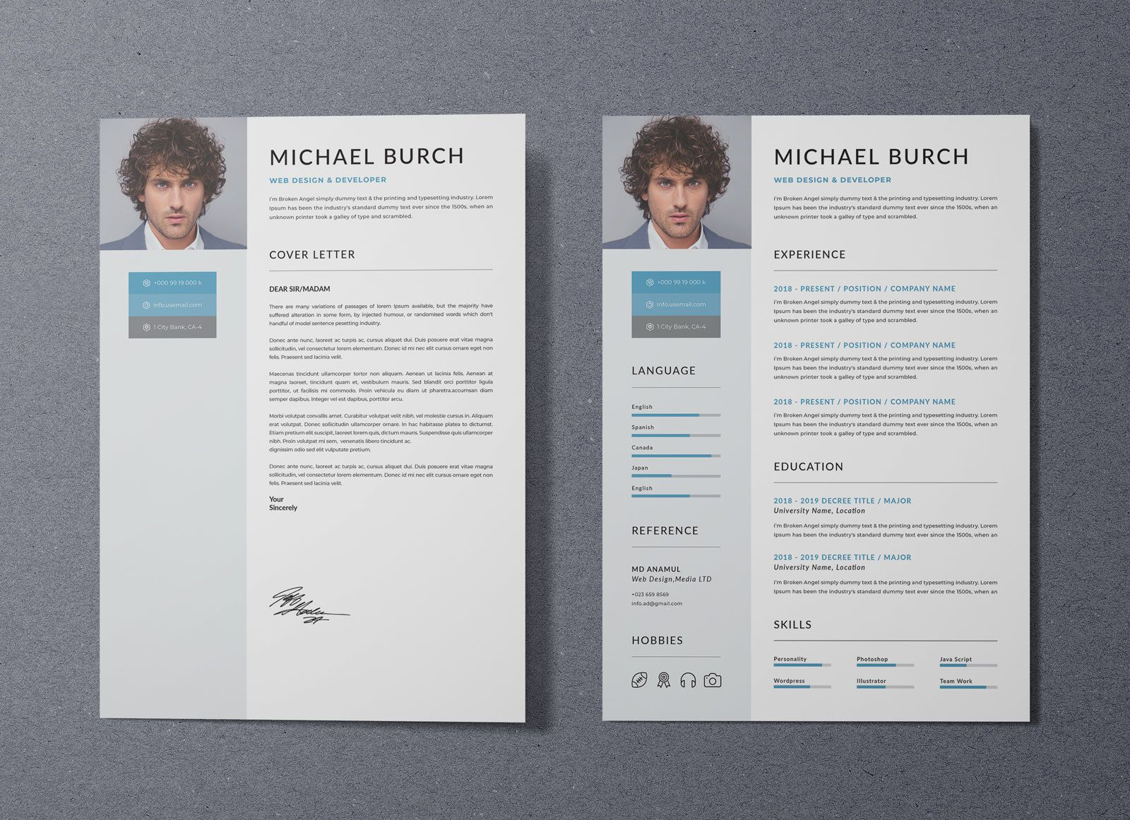 006 Fantastic Free Psd Resume Template Highest Quality  Templates Attractive Download Creative (psd Id) Curriculum VitaeFull