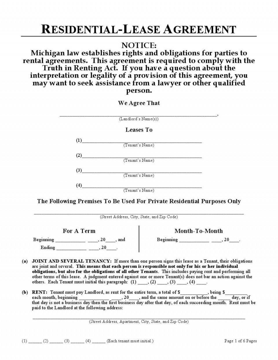 006 Fantastic Generic Rental Lease Agreement Inspiration  Sample Ohio Md Illinoi960