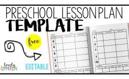 006 Fantastic Lesson Plan Template Preschool Picture  Free Week Sample