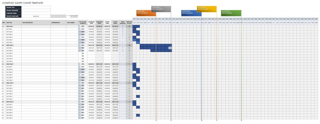006 Fantastic Microsoft Excel Gantt Chart Template Photo  Project Planner In Simple Free DownloadLarge